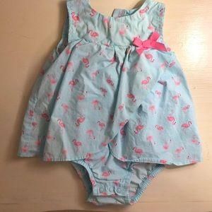 Baby girl flamingo dress